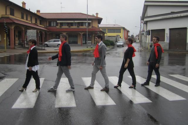 Giunta on the road in Dairago